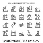 conceptual figures  bold line... | Shutterstock .eps vector #1151245697