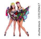 two beautiful women striptease...   Shutterstock . vector #1151250617