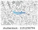 hand drawn modern technologies... | Shutterstock .eps vector #1151250794