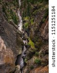 ouray box canyon waterfall    Shutterstock . vector #1151251184