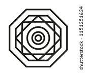 simple mandala shape for... | Shutterstock .eps vector #1151251634