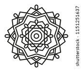 simple mandala shape for... | Shutterstock .eps vector #1151251637