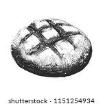 vector engraved style... | Shutterstock .eps vector #1151254934
