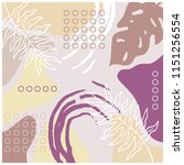 abstract scarf with leaves... | Shutterstock .eps vector #1151256554
