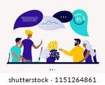 flat style vector illustration  ... | Shutterstock .eps vector #1151264861