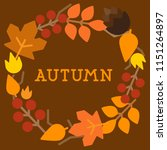 autumn background with leaves | Shutterstock .eps vector #1151264897