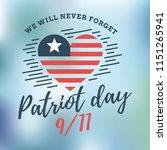 patriot day. 11th of september. ...   Shutterstock .eps vector #1151265941