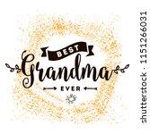 happy grandparents day.... | Shutterstock .eps vector #1151266031
