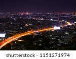 scenic of night cityscape with...   Shutterstock . vector #1151271974