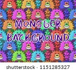 seamless background with fluffy ...   Shutterstock .eps vector #1151285327