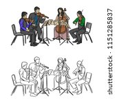 Group Of Musicians Playing In...