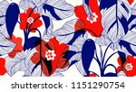 tropical plants seamless... | Shutterstock .eps vector #1151290754