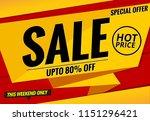 sale banner template | Shutterstock .eps vector #1151296421