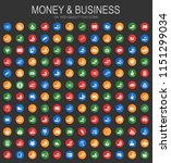 money and business icons for... | Shutterstock .eps vector #1151299034