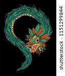 quetzalcoatl aztec god   Shutterstock .eps vector #1151299844