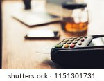 using a credit card machine ... | Shutterstock . vector #1151301731