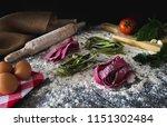 Raw Pasta Preparation  With...