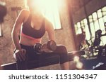 healthy people workout and... | Shutterstock . vector #1151304347