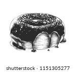 vector engraved style... | Shutterstock .eps vector #1151305277