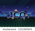 ico   initial coin offering.... | Shutterstock .eps vector #1151305691
