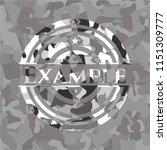 example on grey camo texture | Shutterstock .eps vector #1151309777