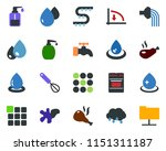 colored vector icon set   down...   Shutterstock .eps vector #1151311187