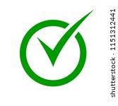 check mark symbol. green check... | Shutterstock .eps vector #1151312441