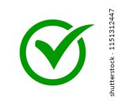 check mark symbol. green check... | Shutterstock .eps vector #1151312447