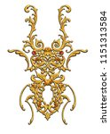 golden jewelry bug  | Shutterstock . vector #1151313584