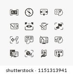 idea icon set and review with...