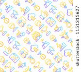 success seamless pattern with... | Shutterstock .eps vector #1151315627