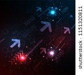 data is transmitted digitally... | Shutterstock .eps vector #1151320811