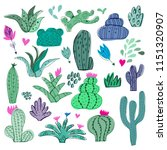 awesome handdrawn  big set of... | Shutterstock .eps vector #1151320907