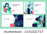set of web page design... | Shutterstock .eps vector #1151321717