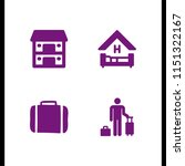 hotel icon. 4 hotel set with... | Shutterstock .eps vector #1151322167
