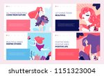 set of web page design... | Shutterstock .eps vector #1151323004