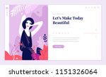 web page design template for... | Shutterstock .eps vector #1151326064