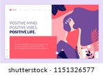 web page design template for... | Shutterstock .eps vector #1151326577