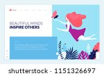 web page design template for... | Shutterstock .eps vector #1151326697