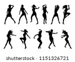 a set of woman dancers dancing... | Shutterstock .eps vector #1151326721
