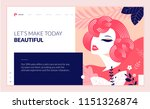 web page design template for... | Shutterstock .eps vector #1151326874