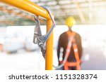 industrial worker with safety... | Shutterstock . vector #1151328374