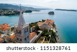 aerial view of island rab and... | Shutterstock . vector #1151328761