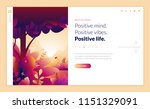 web page design template for... | Shutterstock .eps vector #1151329091