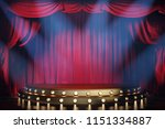 theater stage with red velvet...   Shutterstock . vector #1151334887