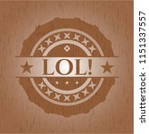 lol  retro style wooden emblem | Shutterstock .eps vector #1151337557