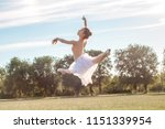 sensual ballerina in nature | Shutterstock . vector #1151339954