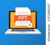 download ppt button on laptop...