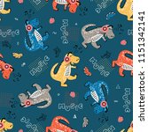 seamless pattern for kids... | Shutterstock .eps vector #1151342141