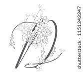 vector hand drawn floral d... | Shutterstock .eps vector #1151343347